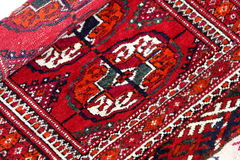 Close up of   Turkmenian tekin rug Royalty Free Stock Image