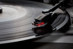 Close up turntable needle Royalty Free Stock Photography