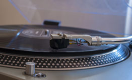 Close up of a turntable needle head Royalty Free Stock Image