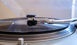 Close up of a turntable needle head Stock Photo