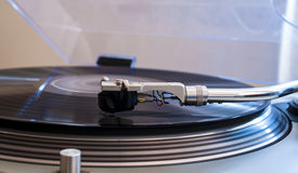 Close up of a turntable needle head Stock Photos