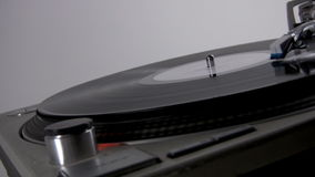 Close Up of turntable. Needle nearing end of record. HD 1080p stock video