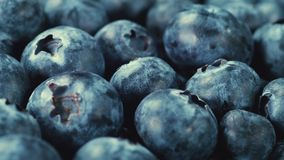 Close up Turntable Shot of a Pile of Blueberries stock footage