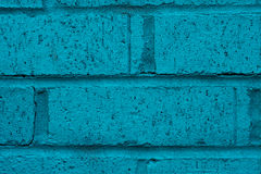 Close up of turquoise brick wall Royalty Free Stock Images