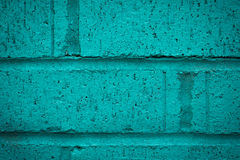 Close up of turquoise brick wall Royalty Free Stock Photography