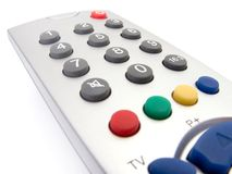 Close up of a TV remote control Stock Photos