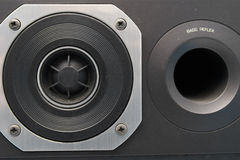 Close up of a tweeter speaker. Close up of a tweeter loudspeaker Royalty Free Stock Photo