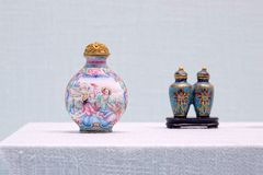 Ancient Chinese snuff bottles royalty free stock image