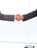 Close up of two businessmen shaking their hands Stock Images