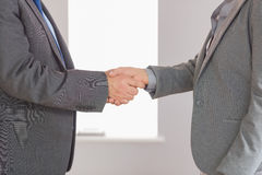 Close up on two businesspeople shaking hands Royalty Free Stock Image