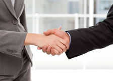 Close up of two businesspeople shaking their hands Stock Photos