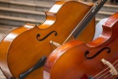 Close-up of two cello. violoncello. Close up of two cello. violoncello, violin royalty free stock photo