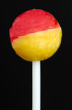 Lollipop Close-Up on Black Background Stock Image