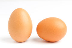 Close up of two egg Royalty Free Stock Image