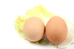 Close up two egg Royalty Free Stock Photo