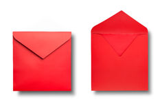 Close-up of two envelopes. Stock Images