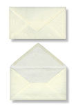 Close-up of two envelopes. Royalty Free Stock Images