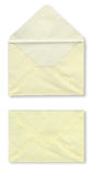 Close-up of two envelopes. Stock Photos