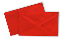 Close-up of two envelopes. Stock Photo