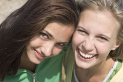 Close up of two female friends Stock Image
