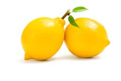 Close up of two lemons Royalty Free Stock Images