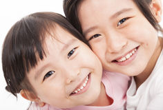 Close up of two little girls Royalty Free Stock Images