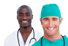 Close-up of two male doctors Stock Photos