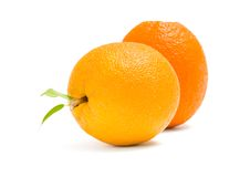 Close up of two oranges Royalty Free Stock Image