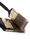 Close up of two paint brushes Royalty Free Stock Photo