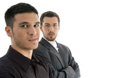 Close up of two professional people Royalty Free Stock Image