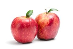 Close up of two red apples Stock Photo
