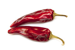 Close up two Red chili pepper Royalty Free Stock Images