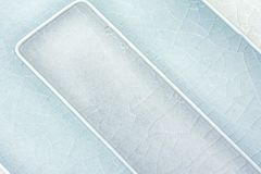Close up of two toned cracked blue tile background Royalty Free Stock Photo