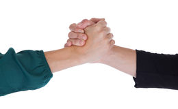 Close up of two women shaking hands Royalty Free Stock Image