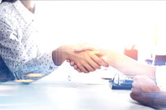 Close up of two women shaking hands Royalty Free Stock Photo