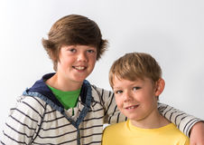 Close up Two of Young Brothers Stock Photography