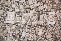 Close up of typeset letters with the word Business Royalty Free Stock Photography