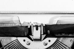 Close up of a typewriter Stock Photography