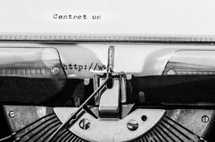Close up of a typewriter Royalty Free Stock Photography