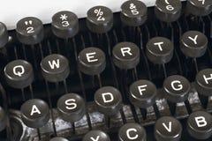 Close-up typewriter keyboard Royalty Free Stock Photo