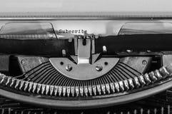 Close up of a typewriter Stock Image