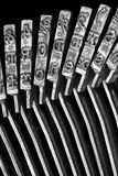 Close-up of Typewriter typebars Stock Images