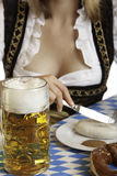 Close-up of a typical meal at the Oktoberfest Stock Images