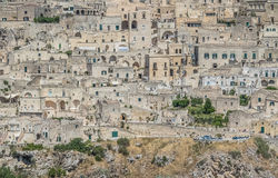 Close-up of typical stones house & x28;Sassi di Matera& x29; of Matera UNESCO European Capital of Culture 2019. Basilicata Royalty Free Stock Photo