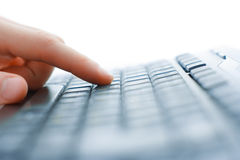 Close-up of typing male hands Stock Image