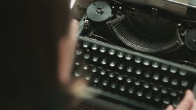 Close up of typing person