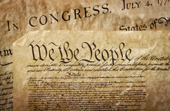Close-up of the U.S. Constitution Royalty Free Stock Photos