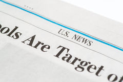 Close up of a U.S. news section of The Wall Street Journalfor editorial use only Royalty Free Stock Image