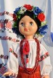 Close-up of ukrainian female doll Stock Image