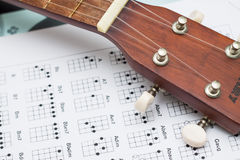 Close up ukulele Stock Photos